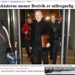 Husby og Sørheim mente at Breivik var utilregnelig. VG 29/11-2011