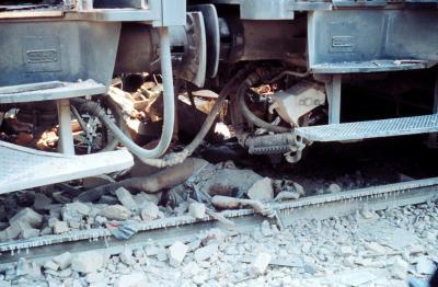 Drapet av den voldsomme eksplosjonen i  venterommet på jernbanestasjonen i Bologna