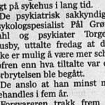 Rettspsykiater Torgeir Husby i rettsalen om trikkedrapsmannen 2005